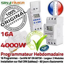 Programmation Journalière Chauffage Tableau électrique Rail DIN 16A 4kW