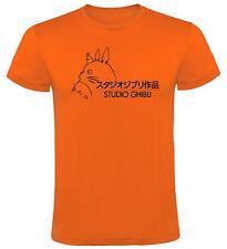 Camiseta Studio Ghibli animación Totoro Hombre varias tallas y colores a056