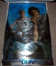 CHiPs Ponch Jon Motorcycle Foil MYLAR Poster 1977 Dargis 3569 Erik Estrada