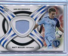 2013 TOPPS MLS Soccer MATT BESLER Jersey Relic USMNT