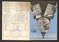 """""""LA VOIX DE SON MAITRE"""" Fevrier 1934 ,M. PANZERA VANNI-MARCOUX Marjorie LAWRENCE"""
