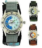 Boxx Army Camouflage Watch Boys Teenage Fabric Easy Fasten Sports Gift For Boy