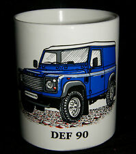 NUEVA azul Defender 90 4x4 Taza, Land Rover Coche porcelana taza Vendedor GB