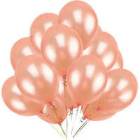 "10PCS 12"" Rose Gold Latex Helium Balloons Set Wedding Birthday Hen Party Decor"