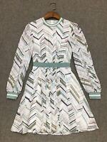 AUTH Ted Baker FLEUURA Everglade long sleeved mini dress 0,3,4,5