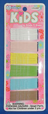 Girls Hair Bobby Pins 60 Count white/pink/yellow/green/blue/brown