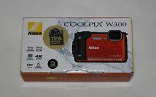 Neues AngebotNikon Coolpix w300 Tough wasserdichte Digitalkamera orange