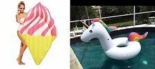 Ice Cream  and Unicorn Tube Pool Float-Get Bundle Discount-Aussie Floaties Stock