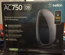 New Belkin AC750 DB 433 Mbps @5Ghz 300 Mbps@2.4 Ghz Wireless AC Router F9K1116