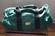 Augusta Masters Duffel Bag Green Golf Shoulder Strap Vintage Gym USA Green