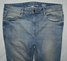 RIVER ISLAND Blue Stretch Skinny Jeans Size W34 L30 EXCELLENT CONDITION