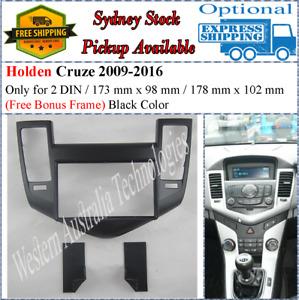 Fascia facia Fits Holden Cruze 2009-2012 (Black) Double Two 2 DIN Dash Kit*