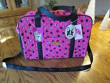 LUV BETSEY JOHNSON LBCRUISN DOGS WEEKENDER TRAVEL FUCHSIA BAG NWT