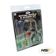 NGT Carp Fishing 6Pc Baiting Hook Needle Boilie Bait Drill Scissors Puller Set