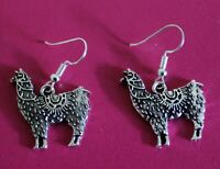 Alpaca EARRINGS Tibetan Silver Charms Llama Animal Earrings Womens Jewellery New