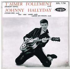 "Johnny HALLYDAY    T'aimer follement   7""  45 tours EP réédition SONY"