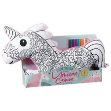 Children Kids Colour Your Own Unicorn Cushion Soft Toy Drawing Set With Cushion