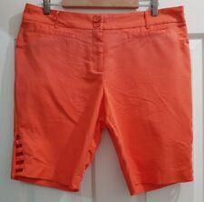 Ladies size 16 ORANGE Shorts - Rockmans
