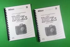 LASER PRINTED Nikon D2XS Camera 288 Page Owners Manual Guide