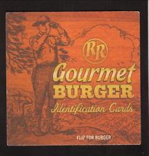 Red Robin Gourmet Burger Coaster--Teriyaki Chicken Burger