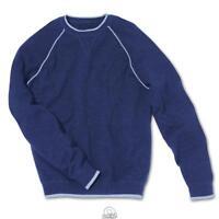 The Mens Washable Cashmere Crewneck Sweatshirt Blue Size 2X XXL 50-52