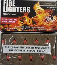 240 FIRE LIGHTERS (20 X 12 PK) GSD MATCHES FLAME CUBES 2 HOURS BURN OUTDOOR BBQ