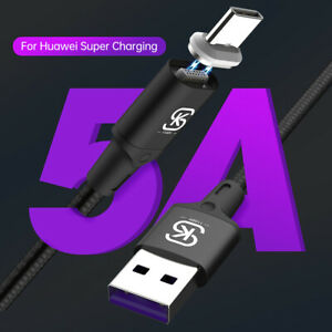 2 Pack 5A Magnetic Charging Cable Micro USB C Cable for iPhone Samsung Huawei LG