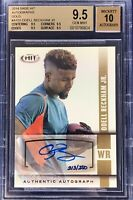 Odell Beckham Jr. 2014 Sage Hit Autograph Rookie Gold /250 BGS 9.5 (10) Gem Mint