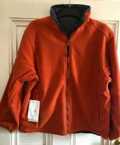 Regatta Citadel Reversible Fleece Jacket - Firebrick Orange/Seal Grey -  Small
