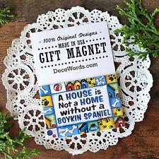 "DecoWords Magnet 2""x3"" Boykin Spaniel Fridge Magnet dog breeds dogs gift Usa"