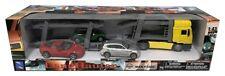 1:43 Scale New Ray 15865 MAN F2000 Car Transporter & 3 Car Set - BNIB