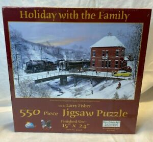Holiday with the Family Larry Fisher 550 pieces Jigsaw Puzzle 49408 Eco USA NEW