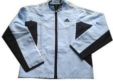 Adidas ♥♥ ♥ 128 ~ chaqueta chaqueta deportiva azul ~ ~ como nuevo ~ Mesh-alimentación animal