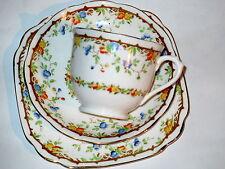 Art Deco / Vintage China Tea Set Trio.Royal Albert Crown China.Gaiety.British
