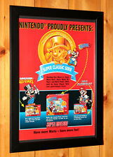 Super Mario Paint All Stars Kart Super Nintendo NES SNES Vintage Poster Framed
