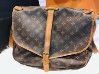 Authentic Louis Vuitton Monogram Canvas Saumur 35 Shoulder Bag Vintage Pre Owned