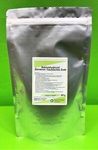 500 g Ätznatron Pulver NaOH Natriumhydroxid, kaustisches Soda organic vegan