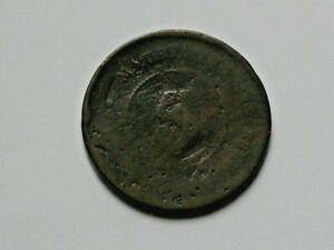 Mauritius (British) 1888 Queen Victoria 5 CENTS Coin Worn with Pitting Damage