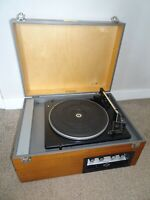 Vintage Clarke & Smith Record Player with Garrard SP 20B Deck (Sound Turntable)