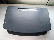 "Used Portable Lapboard w/pullout Lap Mat, Black, 23""wx15""d, pullout is 19""wx13""d"
