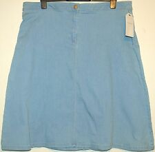 LADIES M&S COLLECTION A LINE KNEE LENGTH DENIM SKIRT SIZE 26 BLEACHED BNWT
