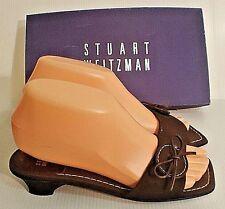 STUART WEITZMAN Brown Mules Sandal Slides Shoes Size 5W Reg. $155