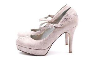 TAMARIS High Heels Pumps Damenschuhe EUR 37 UK 4 Rosa Beige