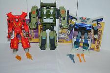 Hasbro Transformers Cyberverse Lot of 3 - Hot Rod, Prowl, & Rack n Ruin Complete