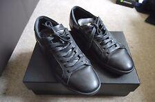 SAINT LAURENT PARIS  Black Leather Low Tops Sz EU 39, UK 5, US 6 RRP £310