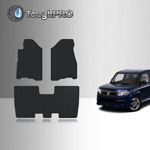 ToughPRO Floor Mats Black For Honda Element All Weather Custom Fit 2003-2006