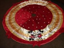 New Disney MICKEY & MINNIE 56 Inch Christmas Tree Skirt RARE BEAUTIFUL NEW
