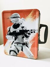STAR WARS STORMTROOPER METAL LUNCH BOX TIN WITH CARRY HANDLE. NEW.