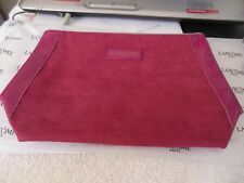 Lancome - Paris *** Cosmetic  Purse  ***{ Suede } *** Free  Shipping