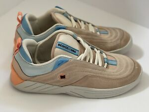 DC Williams Slim ADYS100539 Mens Tan Suede Athletic Skate Shoes US Men's 9.5